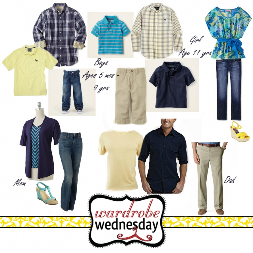 wardrobe ideas for a family with five boys and one girl